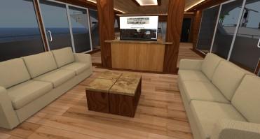 Grid Trekker I, Multi-level yacht, sleeps 6 passengers.