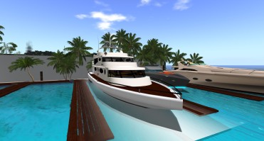Grid Trekker II, Multi-level Yacht with sauna, indoor pool,, tanning bed, and massage room. Sleeps 6 passengers.